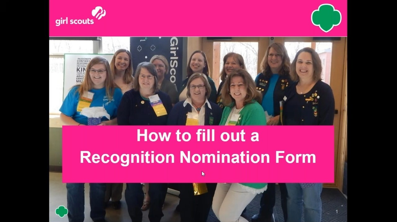 Volunteer Recognition Nomination Instructions